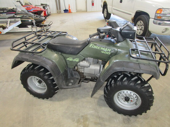 1997 Honda Foreman 400 ATV, 4 x 4, 2760 miles