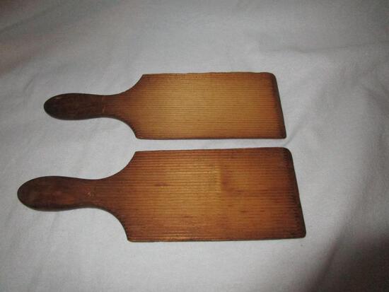 """Vintage Butter Wooden Paddles, Set Of 2, 5 1/2"""""""
