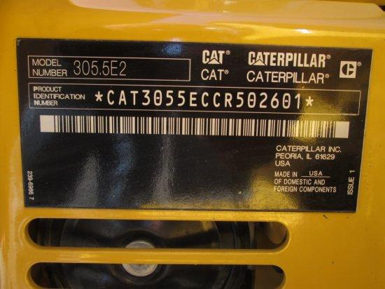 2017 Caterpillar 305 5E2 CR Mini Excavator   Heavy