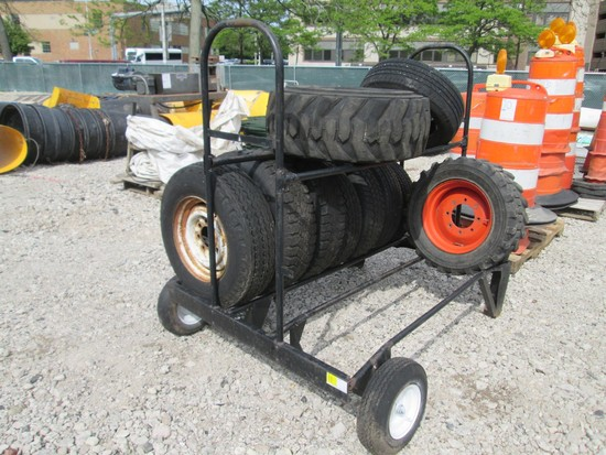 Tire Rack On Wheels