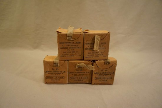 5 Boxes of 7.35mm Ammo in Stripper Clips, 1 Box of 7.35mm Soft Nose Hunting Rounds