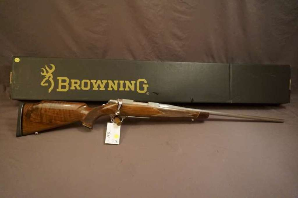 Browning M A Bolt White Gold Medallion 257 Roberts B A Rifle Firearms Military Artifacts Firearms Rifles Online Auctions Proxibid