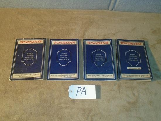 Winchester World Standard Guns & Ammunition Books – 1932, 1933, 1934 & One Unknown