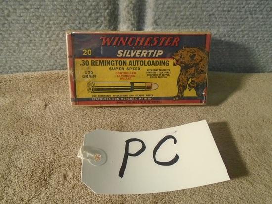 "Winchester ""Bear Box"" .30 Remington Auto Loading – Full Box"