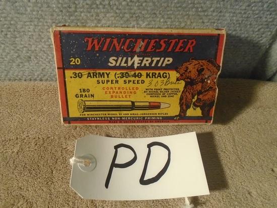 """Winchester """"Bear Box"""" .30 Army 30-40 Krag – Empty Box"""