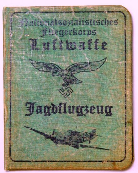 Rare German WWII Luftwaffe ME 109 Fighter Pilot Identification Book