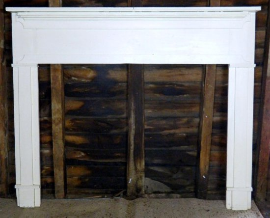 Antique Wooden Fireplace Mantel
