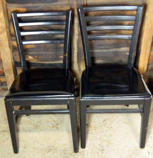 Set of Two (2) Black Side Chairs