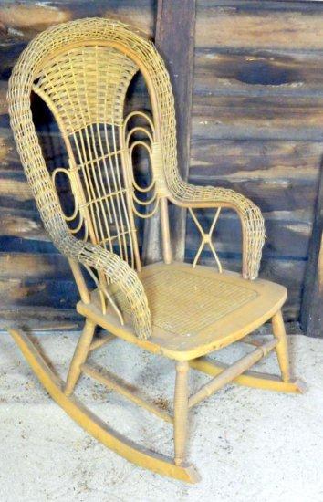 Heywood-Wakefield Company Cane Rocking Chair