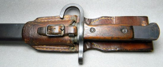 Japanese Bayonet with Metal Scabbard and Leather Frog, WWII