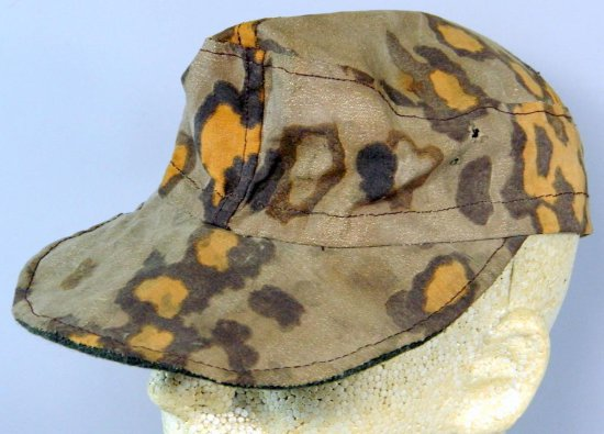 German WWII Camo Cap, Field Repaired
