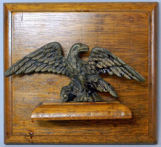 Decorative Eagle Statuette on Wooden Display