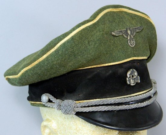 German WWII SS Allgemeine Officer Visor Cap