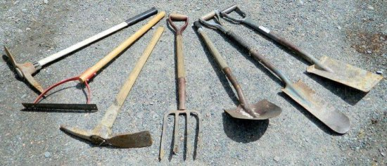 Lot of Seven Hand Lawn and Garden Tools