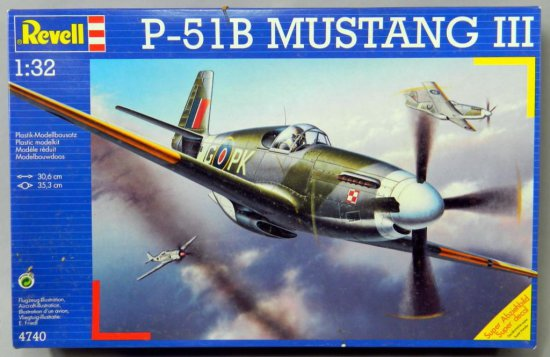 Revell P-51B Mustang III Plastic Assembly Kit