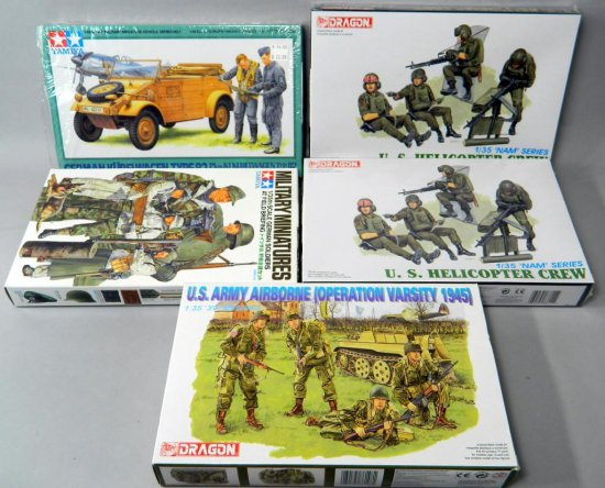 Grouping of Five Military Model Figures