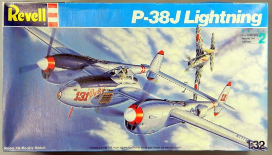 Revell Lockheed P-38 J Lightning Plastic Model Kit
