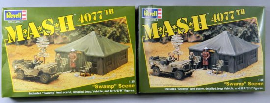 Lot of Two Revell M.A.S.H. 4077 Swamp Scene Models