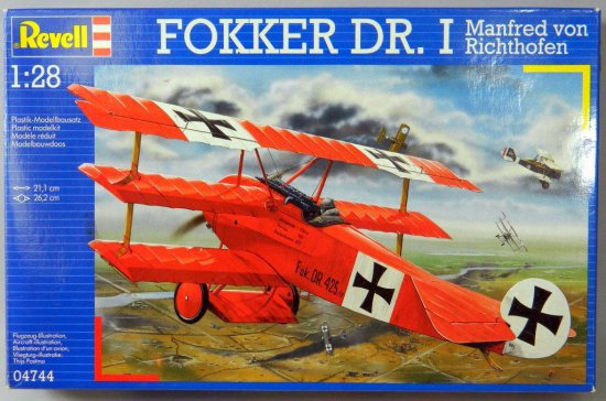 Revell Fokker DR. I Plastic Model Assembly Kit