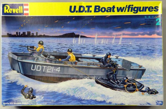 Revell U.D.T. Boat With Figures Plastic Model Kit