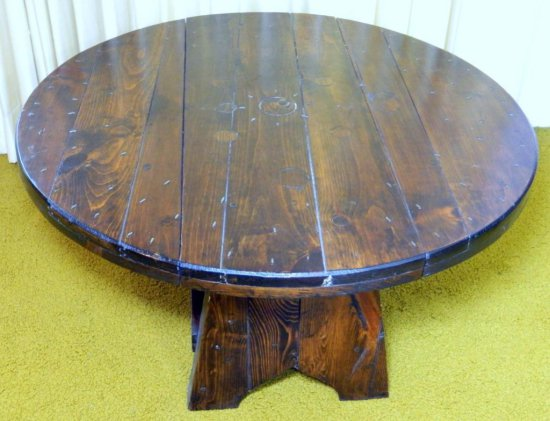 Thick Wood Drop-leaf Coffee Table