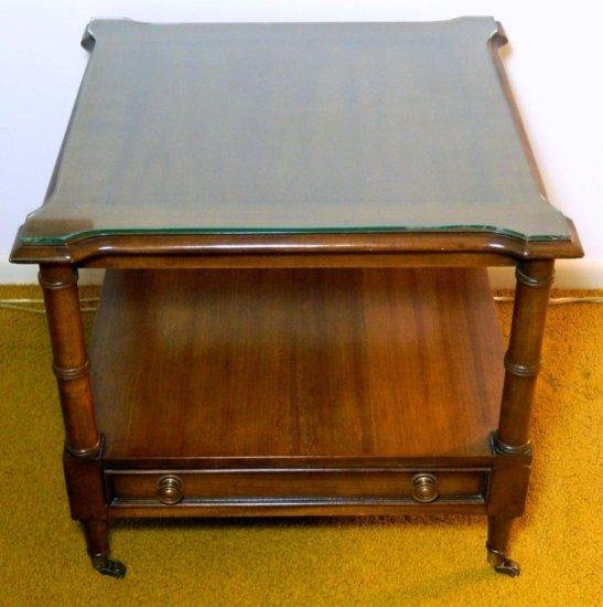 Century Furniture Co. End Table with Storage