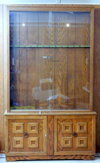 Wood and Glass Gun Cabinet