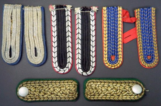 Grouping of Four (4) Pairs of Military Shoulder Boards