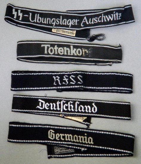 Grouping of Five (5) German Cuff Titles
