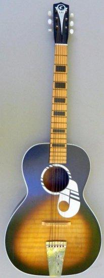 Vintage Kay 1960's Acoustic Two Color Sunburst Guitar