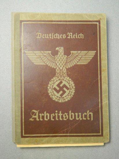 WW2 German Deutsches Reich Arbeitsbuch Book