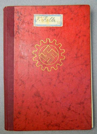 WWII German Work Pass Book