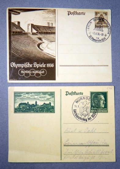 Grouping of Two WWII Era German Postcards
