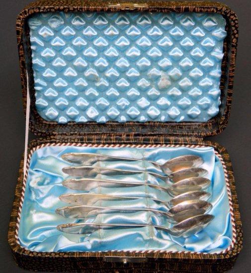 Six German WWII Spoons in Case