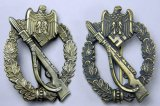 Army Silver and Bronze Infantry Assault Badge, German WWII
