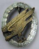 Luftwaffe Paratrooper Fallschirmjager Jump Badge, German WWII