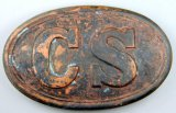 Confederate States Civil War Era CS Enlisted Mans Belt Buckle