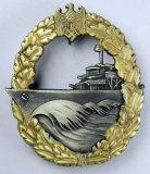 Naval Kriegsmarine Destroyer Badge, German WWII