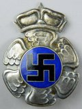Norwegian Swastika Breast Badge, WWII