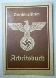WWII German Deutsches Reich Arbeitsbuch Book