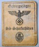 Rare SS-Scharfschutzen Sniper ID Booklet