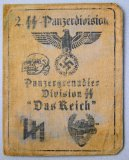 Nazi German Waffen SS Panzer Soldier ID Booklet