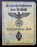 WW2 German Sicherheitsdienst des RfSS ID Booklet
