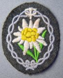 Edelweiss German Military Shoulder Stitched Patch
