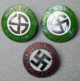 Grouping of Three German WW2 NSDAP Party Pin Badges