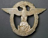 German NAZI Eagle ENGLAND AWAKE Militant Hat Badge