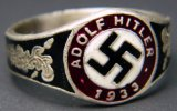 Adolf Hitler Swastika Men's Ring