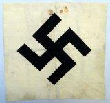 German WWII White Cloth Flag with Swastika