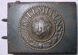 Army Enlisted Mans Combat Belt Buckle, German WWII