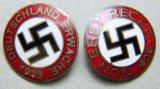 Nun Erst Recht and Deutschland Erwache Party Pins, German WWII